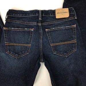 Abercrombie Boys Dark Wash Straight Leg Jeans Sz14